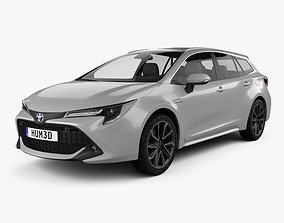 3D model Toyota Corolla Touring Sports Hybrid 2019