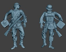 3D print model German soldier ww2 Killed G6