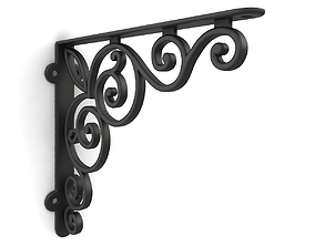 3D model Iron shelf bracket 06