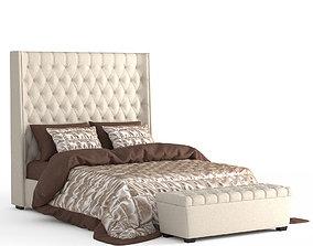 Dantone Grantem Bed and Banquette 3D model