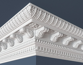 carved Decorative Crown Molding 3D model