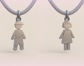 Pendant Boy and Girl 06 3D printable model