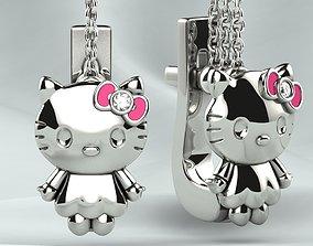 3D print model Hello Kitty Girls Earrings