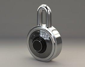 architectural 3D padlock