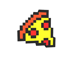 3D asset Pixel Pizza v1 001