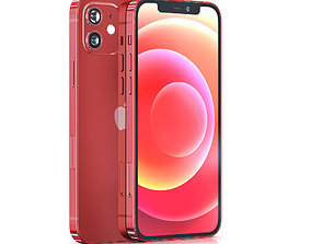 Apple iPhone 12 RED 3D model