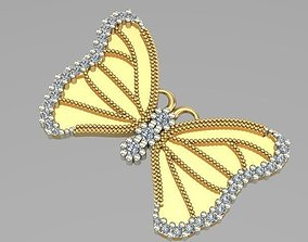 necklaces sintered butterfly pendant 3D printable model
