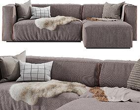3D Cleon Modern Medium Sectional Sofa by Blu Dot