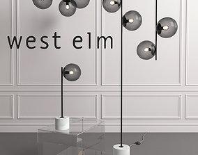 3D WEST ELM Sphere Lamp Bronze