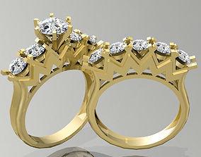 Gold Ring 3D print model ashion-ring finger