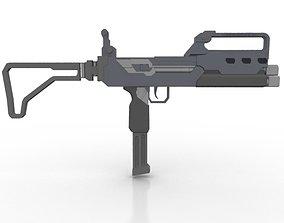 3D model Triple Barrel Submachine Gun