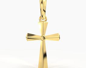 JESUS CROSS GOLD PENDANT 3D printable model