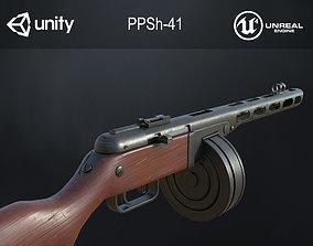 3D asset PPSh-41 Soviet submachine gun