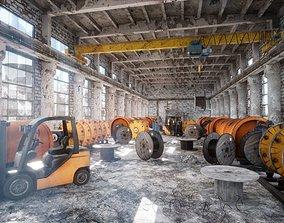 Abandoned Factory Level 3D asset