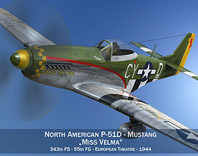 3D model North American P-51D - Miss Velma