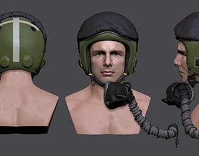 3D printable model Flighter Pilot Helmet RAF Tornado