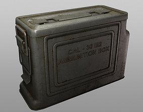 3D model game-ready ammo box cal30 m2