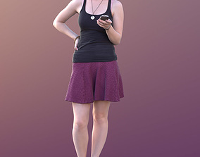 Svenja 10513 - Standing Summer Girl 3D asset low-poly