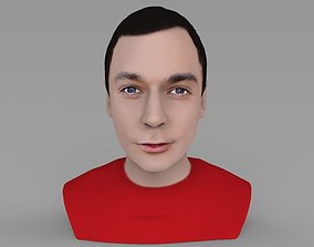 Sheldon Big Bang Theory bust ready for full color 3D 1