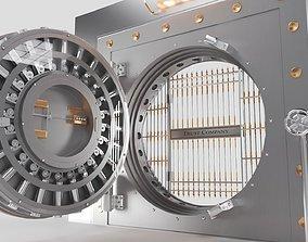 3D model BANK VAULT DOOR Animated