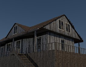 Old Wooden House 3D model horror