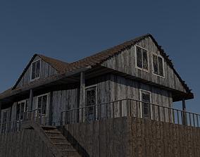Old Wooden House 3D model horror