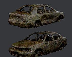 Apocalyptic Damaged Destroyed Vehicle Car 3D model 3