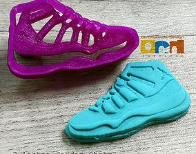 Jordan Shoes improved cookie cutter 3D print model