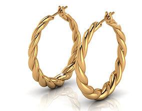 3D printable model Gipsy Gold Earrings