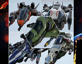 Spaceships Essential Pack - game 3D asset