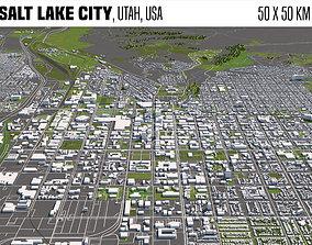 Salt Lake City Utah USA 50x50km 3D model