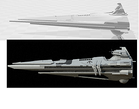 3D printable model Centurion-class Battlecruiser