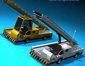 Airport baggage loader vehicle 3D