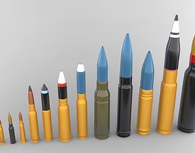 low-poly Bullets 3D Models