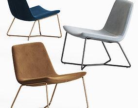 3D Westelm Slope Lounge Chair