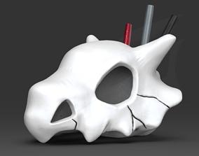 CuBone Skull Pen Storage STL for 3D print model