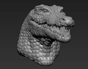 3D model Crocodile Humanoid Head