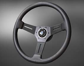 Nardi Competition Steering Wheel 3D asset