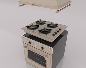 Oven stove and range 3D