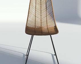 Wicker Side Chair 3D model