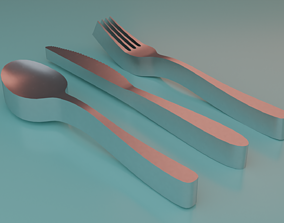 Thick Cutlery Set 3D print model