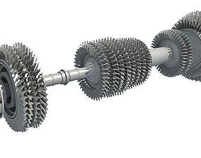 Aircraft Engine Turbine 3D model
