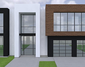3D 2 story large modern house with cad floor plan