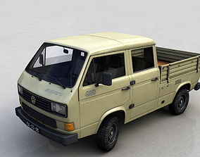 3D VOLKSWAGEN TRANSPORTER PICKUP DOUBLE CAB SYNCRO 1987