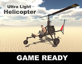 3D model Ultra Light Helicopter