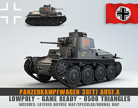 Low Poly Panzer 38t Light Tank 3D model