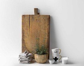 Scandinavian Kitchen Set 3D model mug