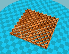 3D print model Stl file Fondant fish scales Cutter Icing 1