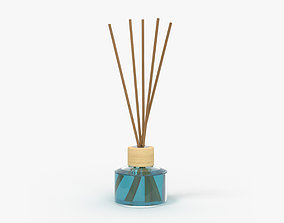 Air refresher bottle with sticks 04 3D