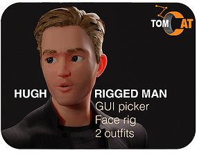 Hugh Rigged Man Character 3D model